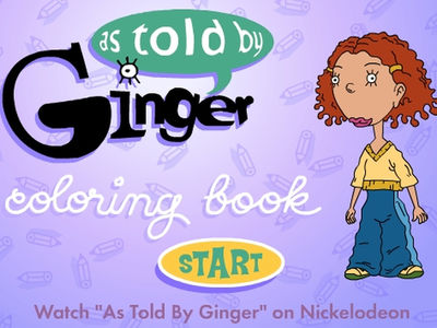 As Told By Ginger - Ginger's Coloring Book
