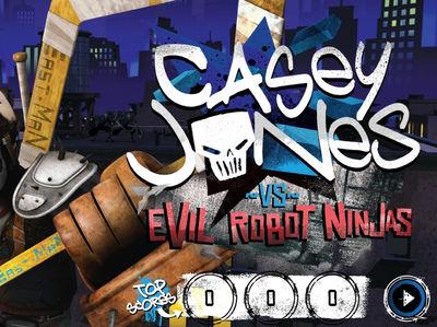 Teenage Mutant Ninja Turtles - Casey Jones vs Evil Robot Ninjas
