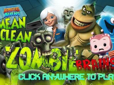 Monsters vs Aliens - Mean Clean Zombie Brains