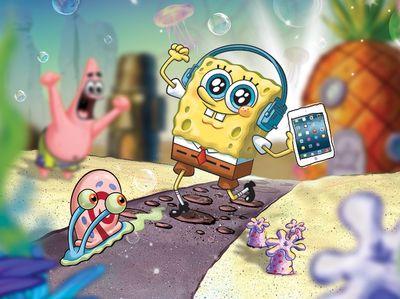 Ο Μπομπ Σφουγγαράκης πήρε το iPad του και κρύφτηκε στο site του Nickelodeon! ΝΙΚΗΤΗΣ: