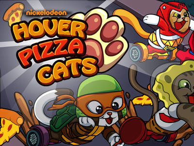 Hover Pizza Cats