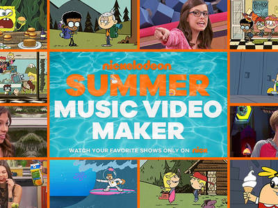 Nickelodeon Summer Music Video Maker