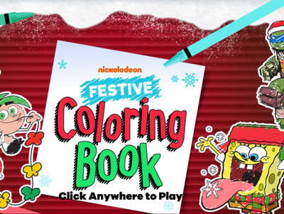 Nickelodeon Festive Coloring Book