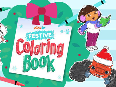 Nick Jr Festive Coloring Book