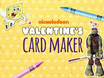 Φτιάξε τη δική σου Nickelodeon κάρτα για του Αγίου Βαλεντίνου