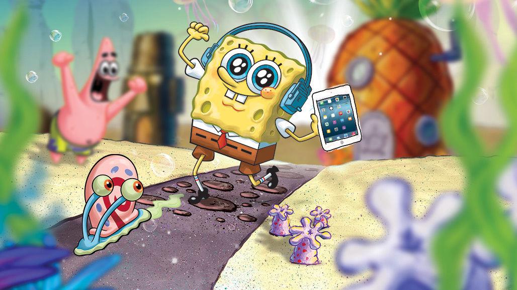 Ο Μπομπ Σφουγγαράκης πήρε το iPad του και κρύφτηκε στο νέο site του Nickelodeon!