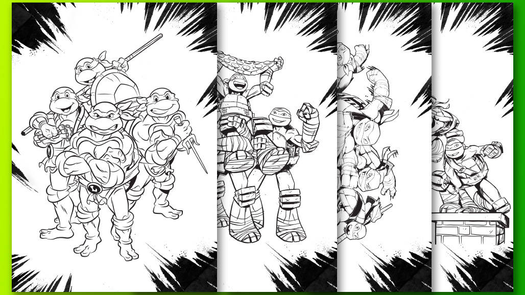3+1 Σχέδια Ζωγραφικής Χελωνονιντζάκια!